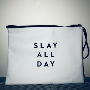 Milly black & white makeup clutch bag slay all day